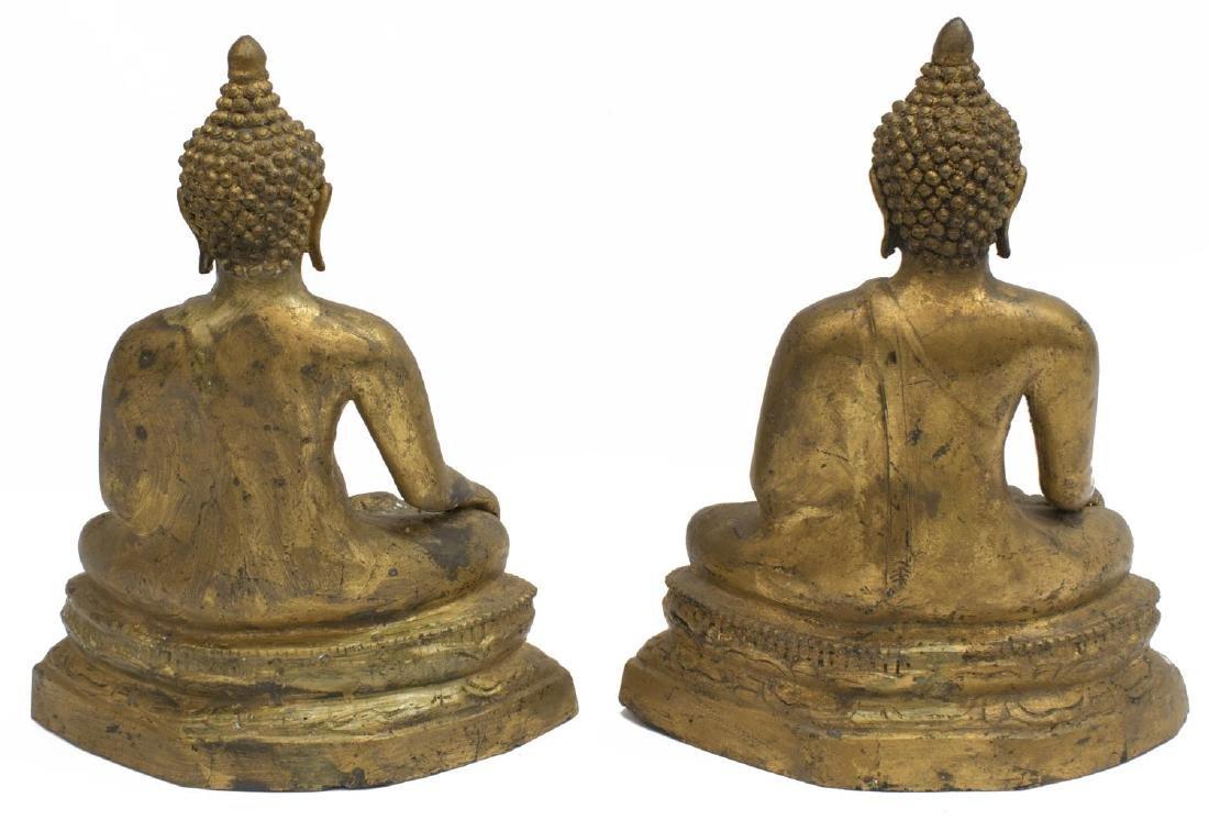 (2) GILT METAL SEATED EARTH TOUCHING BUDDHA - 3