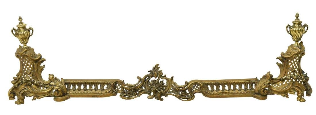 FRENCH LOUIS XVI STYLE FIREPLACE FENDER