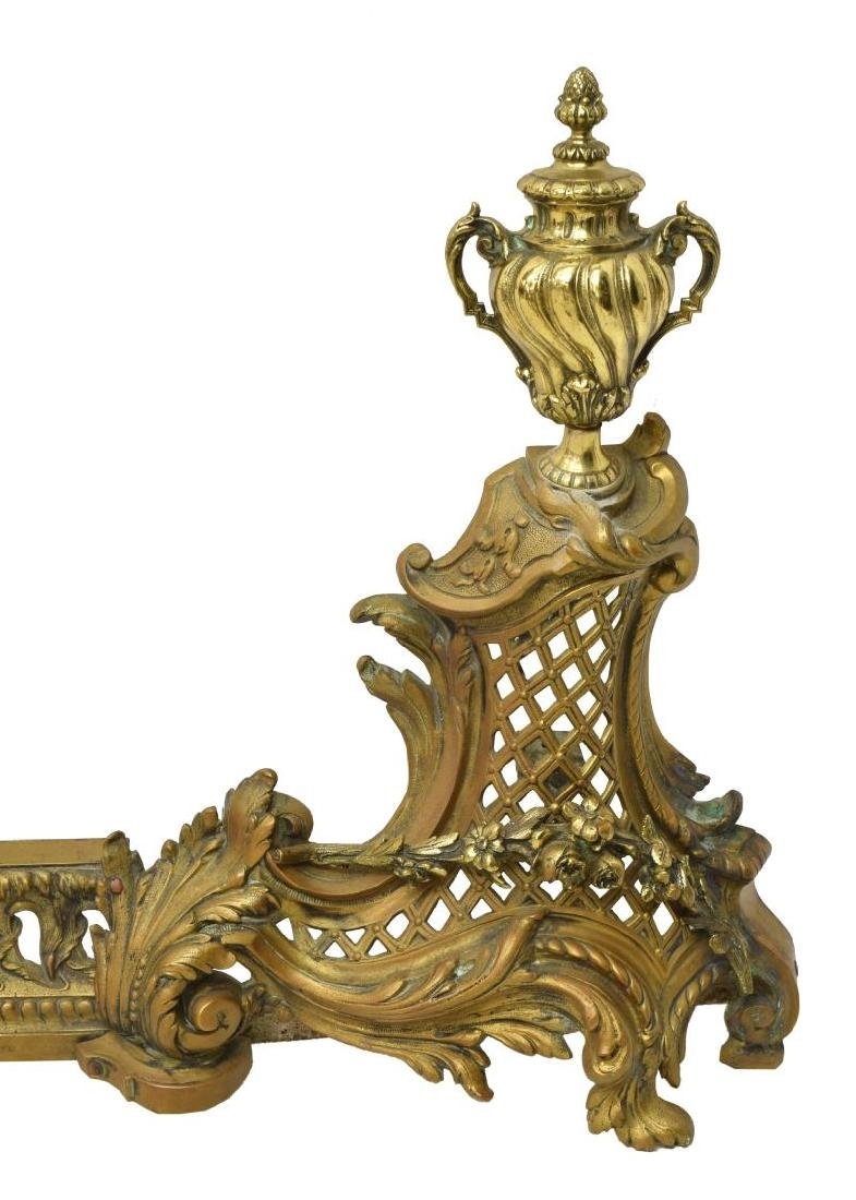 FRENCH LOUIS XVI STYLE FIREPLACE FENDER - 3