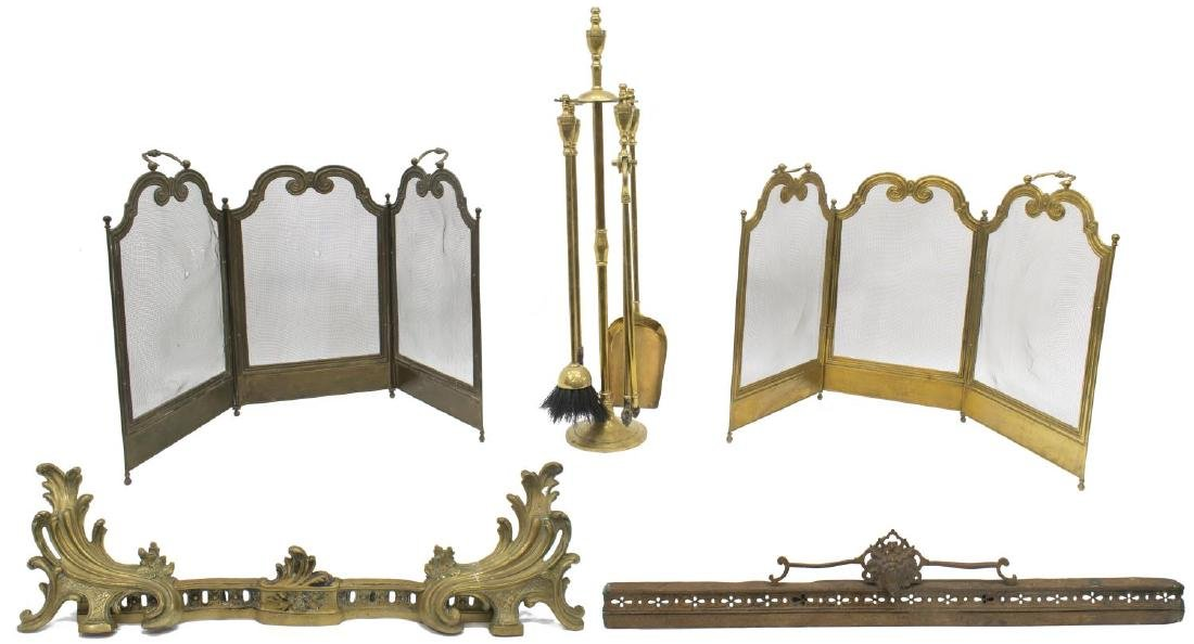 ANTIQUE FRENCH FIRE IMPLEMENTS & ACCESSORIES