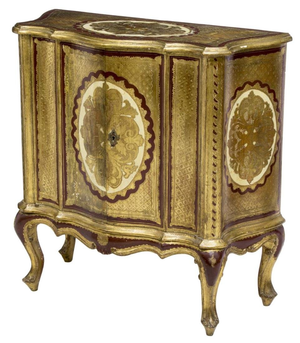 LOUIS XV STYLE CARVED & GILT CABINET