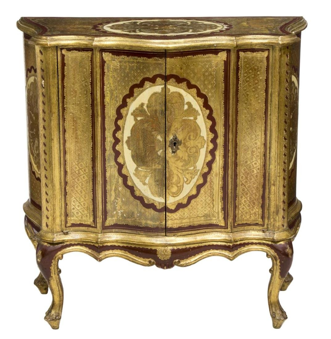 LOUIS XV STYLE CARVED & GILT CABINET - 2