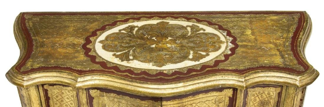 LOUIS XV STYLE CARVED & GILT CABINET - 3