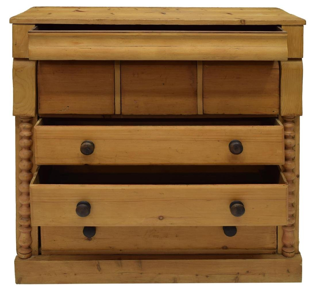 ENGLISH VICTORIAN STRIPPED PINE CHEST - 3