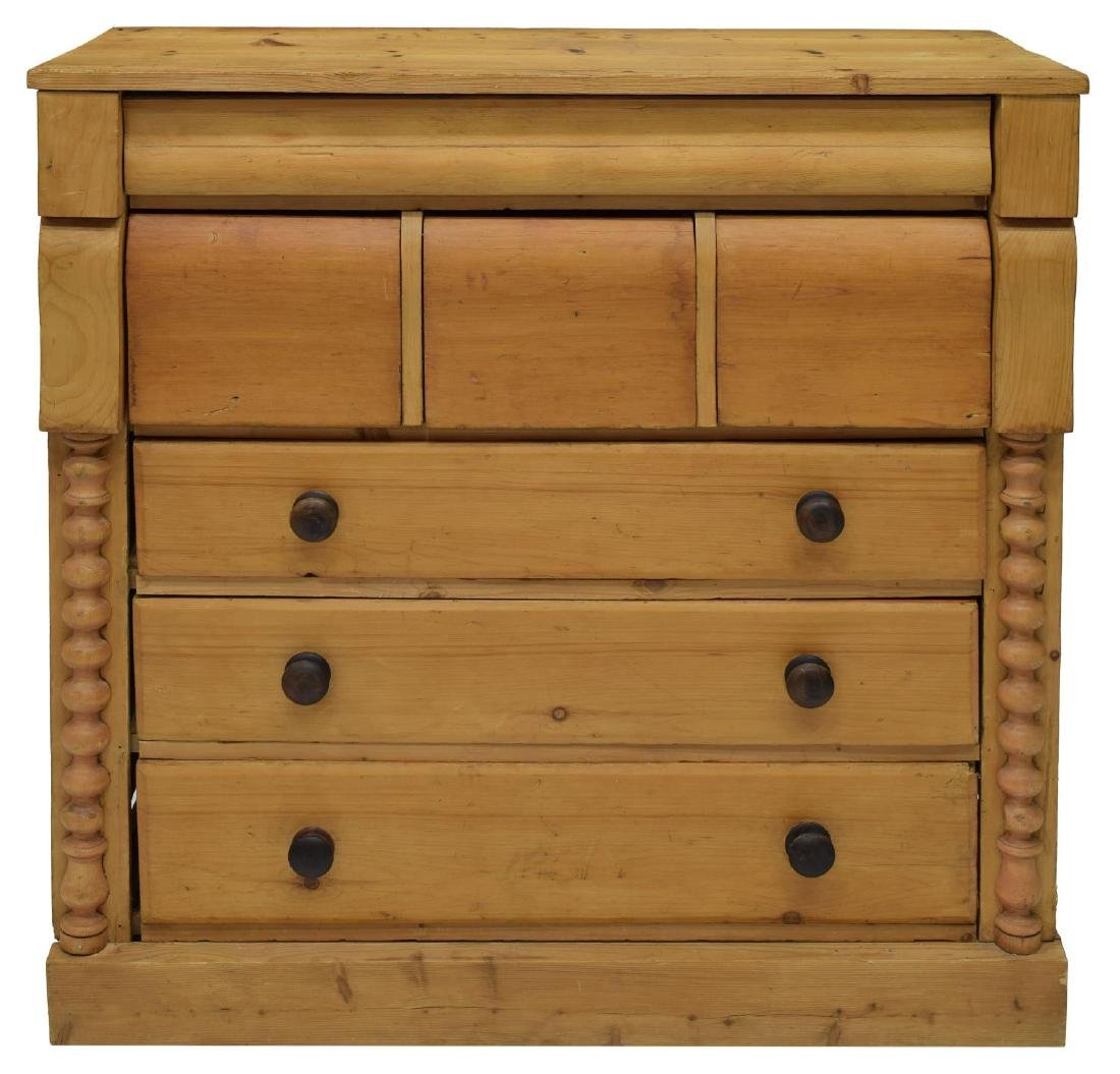 ENGLISH VICTORIAN STRIPPED PINE CHEST - 4