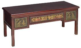 CHINESE CARVED WOOD LOW COFFEE TABLE