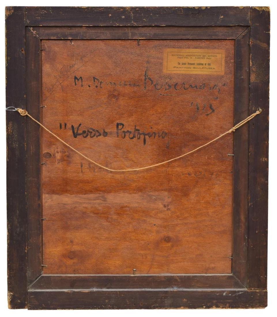 "ITALIAN 1923 SIGNED PAINTNG, ""VERSO PORTOFINO"" - 5"