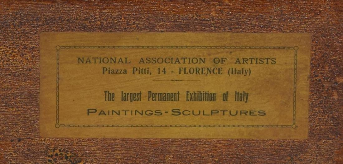 "ITALIAN 1923 SIGNED PAINTNG, ""VERSO PORTOFINO"" - 6"