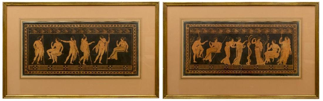(2) WILLIAM HAMILTON ENGRAVINGS GREEK & ROMAN