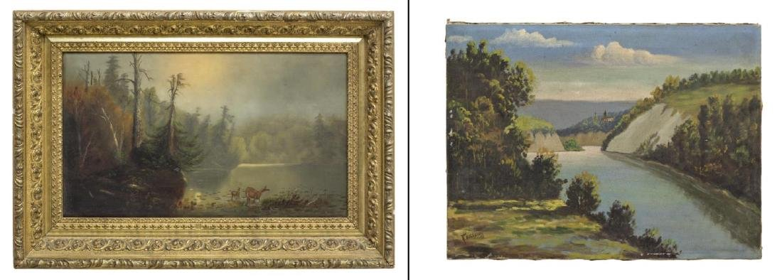 (2) OIL ON CANVAS PAINTINGS, LANDSCAPES