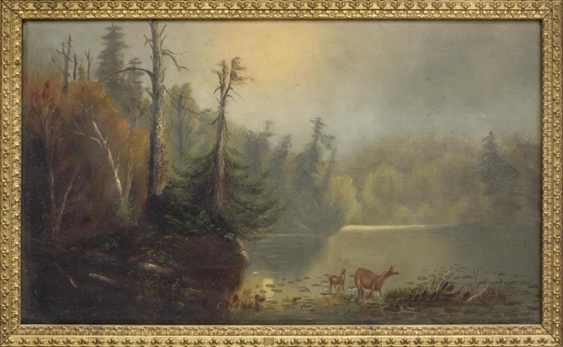 (2) OIL ON CANVAS PAINTINGS, LANDSCAPES - 2