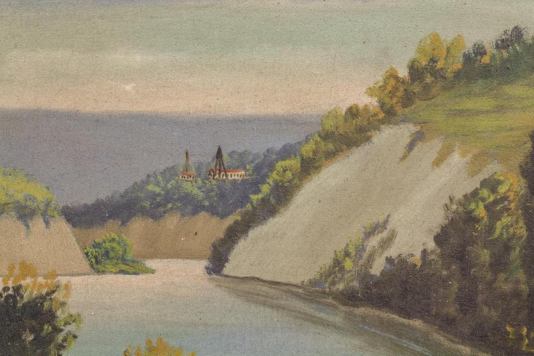 (2) OIL ON CANVAS PAINTINGS, LANDSCAPES - 5