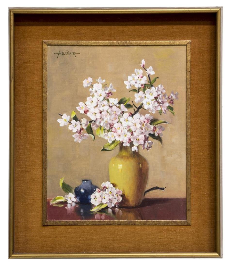 A.D. GREER (1904-1998) FLOWERS IN A VASE PAINTING - 2