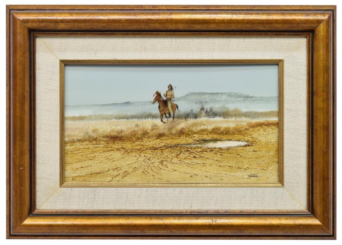 RAUL GUTIERREZ (TEXAS, B. 1935) INDIAN HORSE RIDER - 2