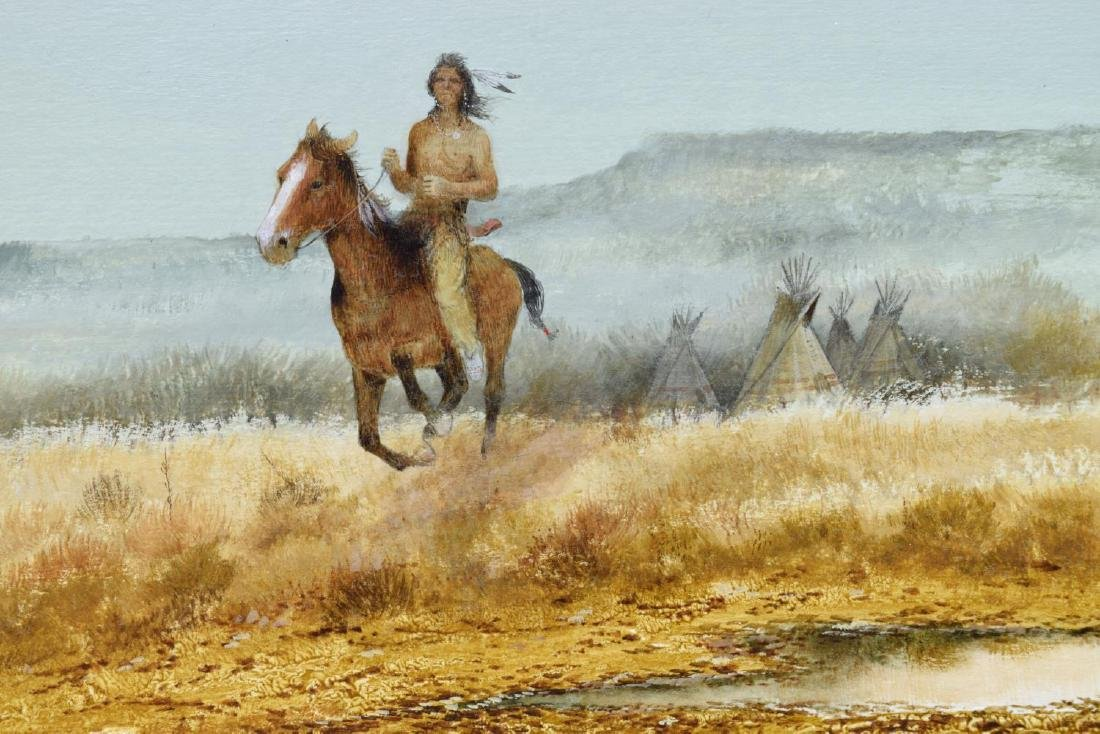 RAUL GUTIERREZ (TEXAS, B. 1935) INDIAN HORSE RIDER - 3