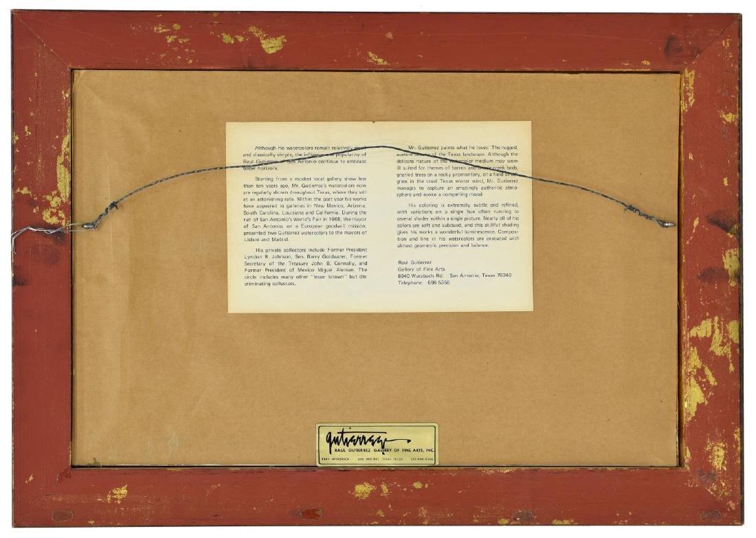 RAUL GUTIERREZ (TEXAS, B. 1935) INDIAN HORSE RIDER - 5