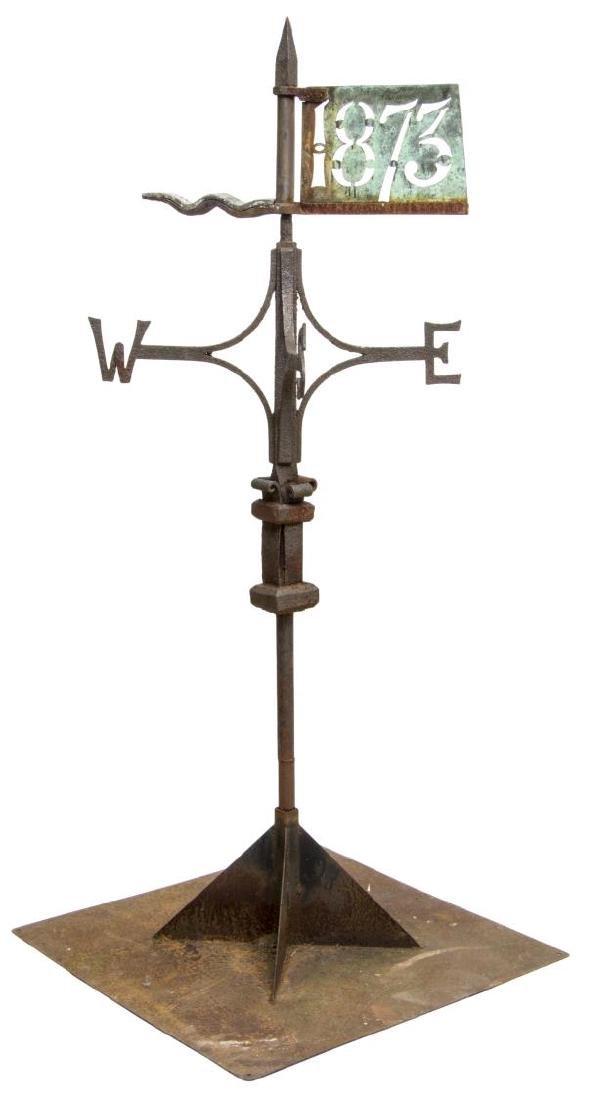 1873 ENGLISH IRON & COPPER WEATHERVANE - 3