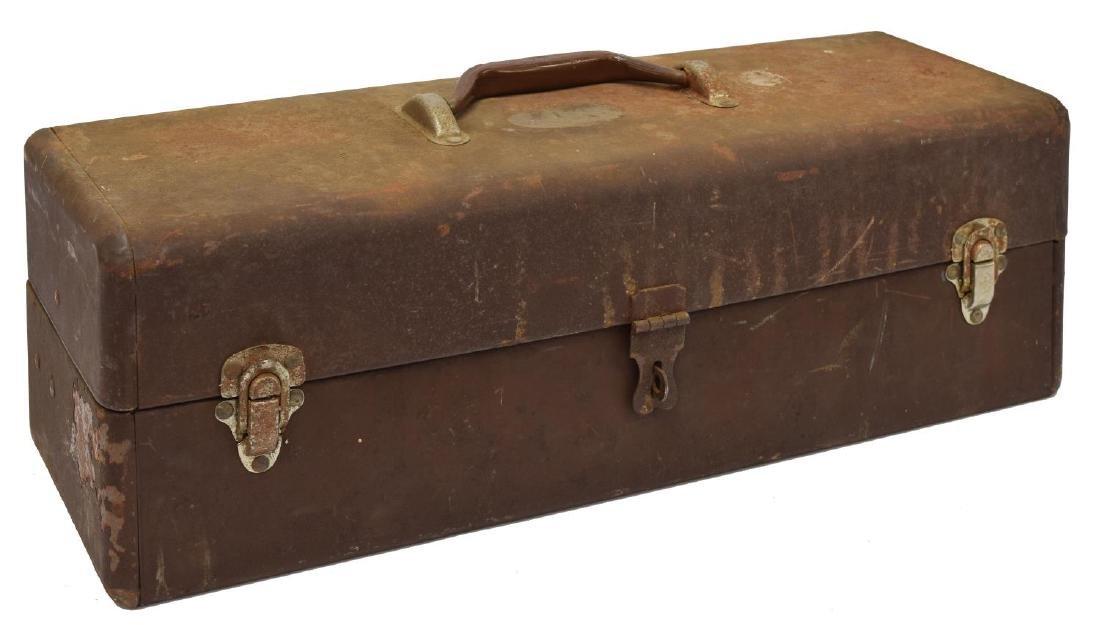 VINTAGE FISHING TACKLE, BOX, 1904 PAT. DATE REEL