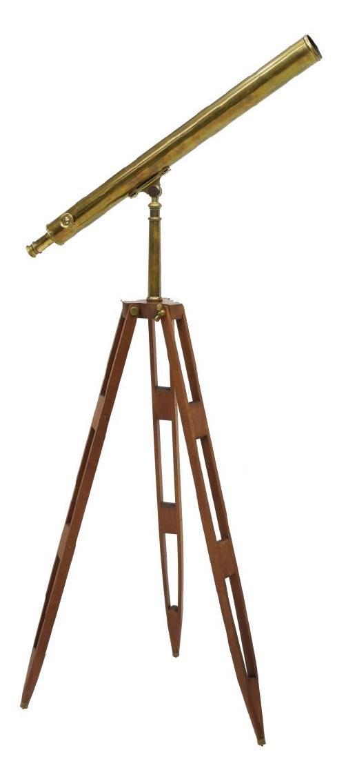 "BRASS 3"" REFRACTING TELESCOPE & TRIPOD"