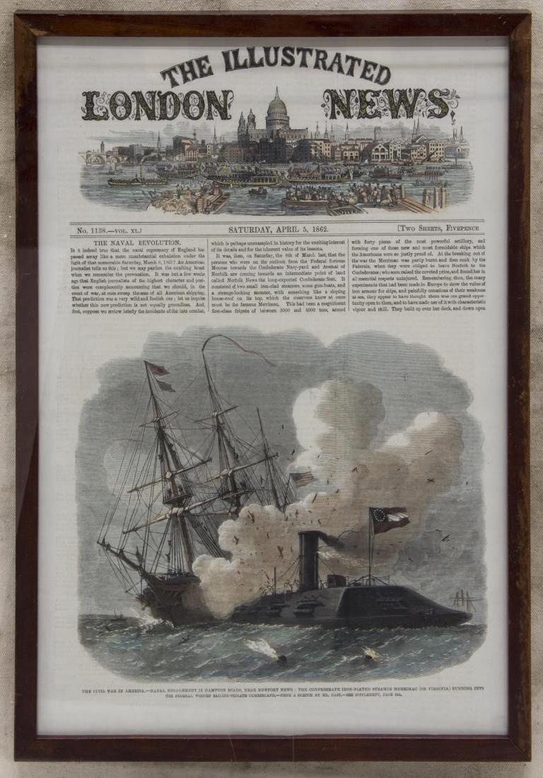 1862 CIVIL WAR ILLUSTRATION & MODEL IRON CLAD SHIP - 2