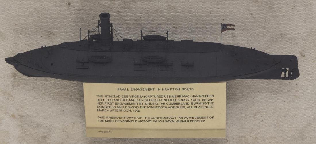 1862 CIVIL WAR ILLUSTRATION & MODEL IRON CLAD SHIP - 3