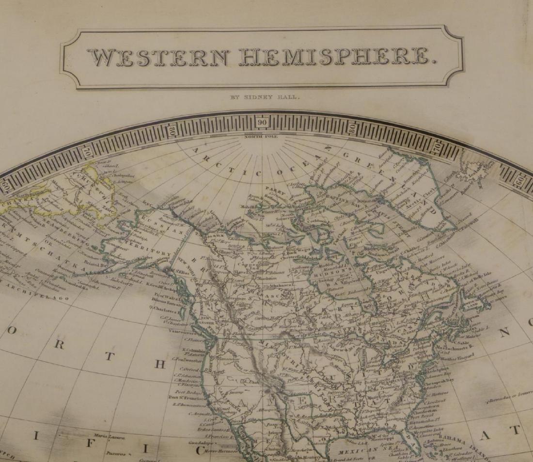 """MAP, """"WESTERN HEMISPHERE"""", SIDNEY HALL, 1829 - 2"""