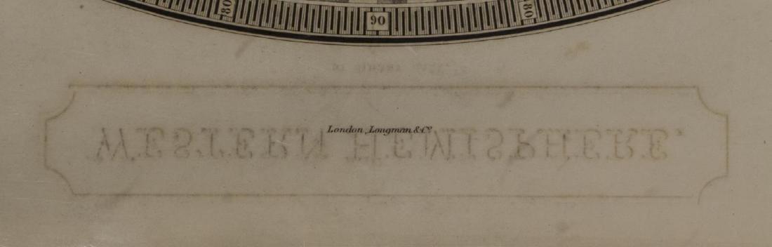 """MAP, """"WESTERN HEMISPHERE"""", SIDNEY HALL, 1829 - 4"""