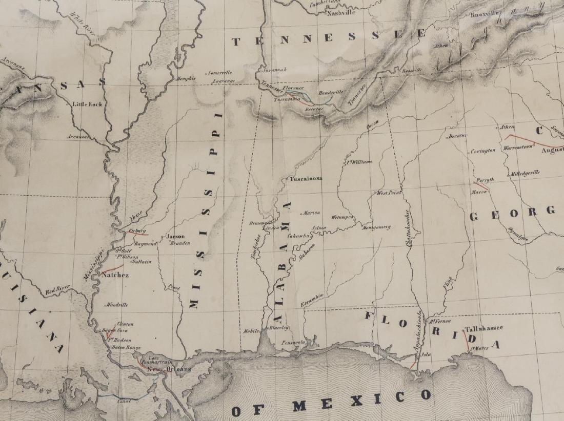 1845 MAP OF NORTH AMERICA, CARLO GHEGA, AUSTRIA - 3