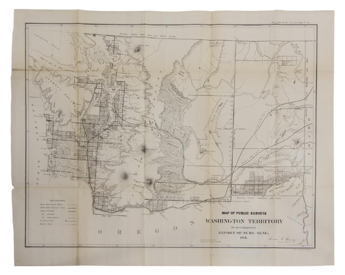 U.S. MAP WASHINGTON TERRITORY, ANSON HENRY, 1863