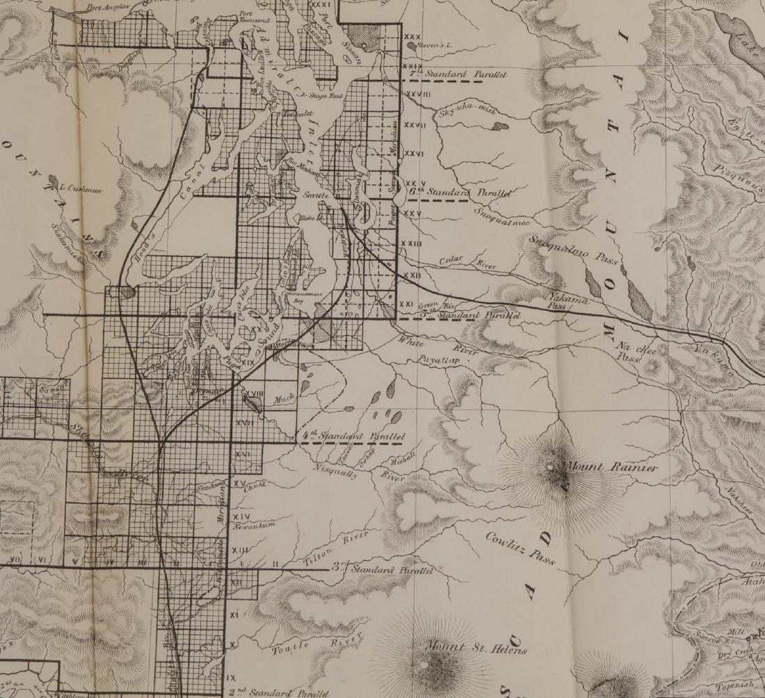 U.S. MAP WASHINGTON TERRITORY, ANSON HENRY, 1863 - 2