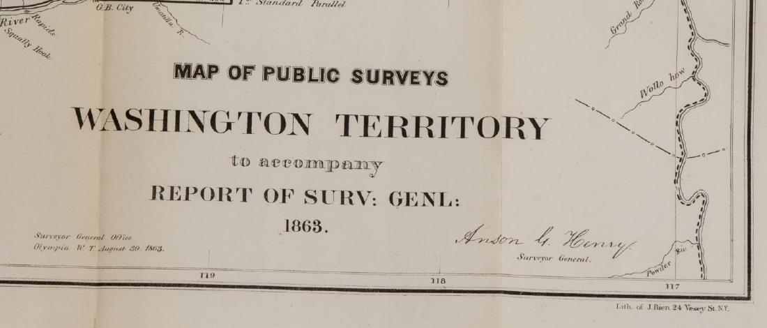 U.S. MAP WASHINGTON TERRITORY, ANSON HENRY, 1863 - 3