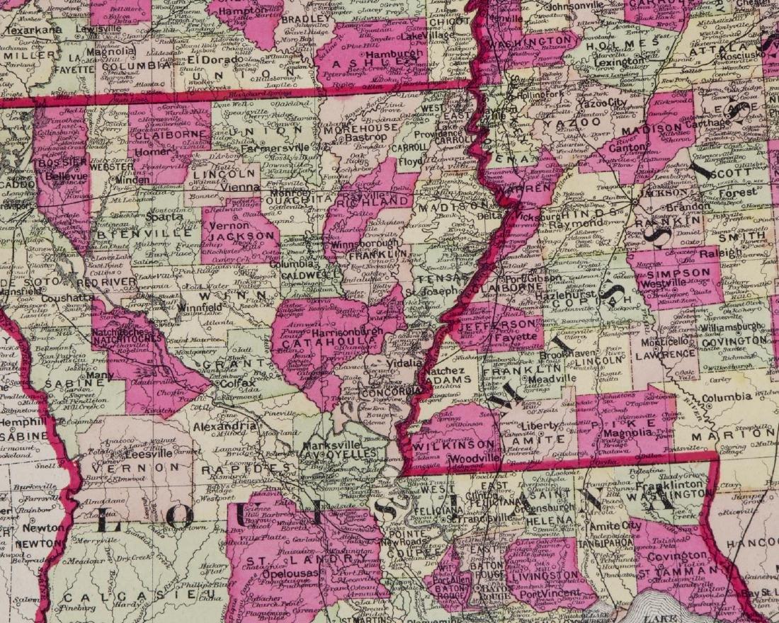 TUNISONS MAP ARKANSAS, LOUISIANA, FLORIDA, GEORGIA - 3
