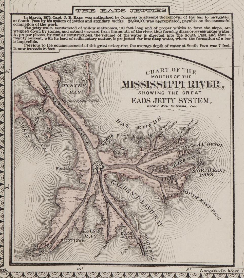TUNISONS MAP ARKANSAS, LOUISIANA, FLORIDA, GEORGIA - 5