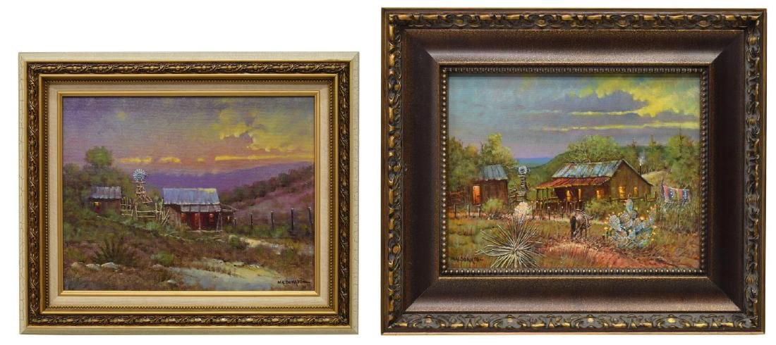 (2) DANIEL MALDONADO (TEXAS) WESTERN OIL PAINTINGS