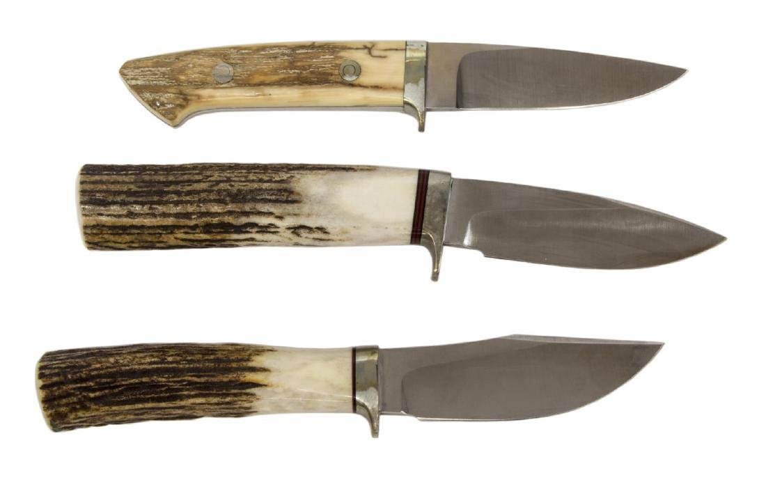 (3) A.G. RUSSELL FIXED BLADE KNIVES & SHEATHS - 3