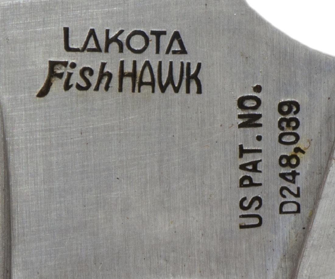 (3) FIXED BLADE KNIVES, BOKER MARBLES, LAKOTA - 4