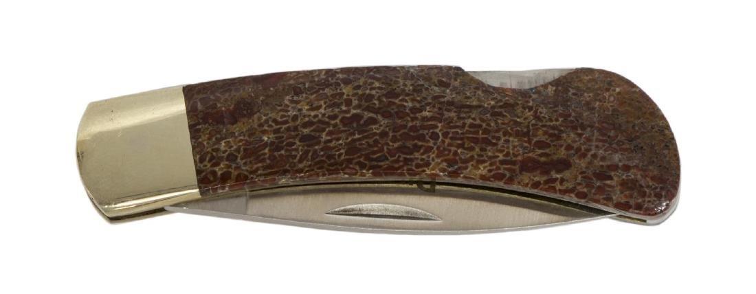 SANTA FE STONEWORKS POCKET KNIFE, DINOSAUR HANDLE