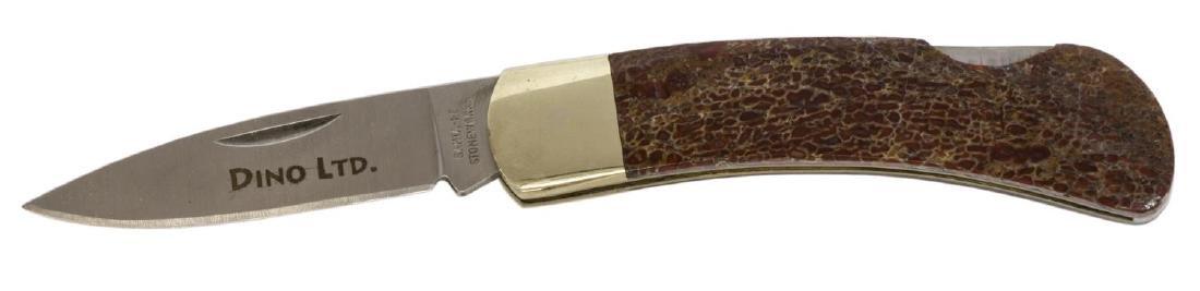 SANTA FE STONEWORKS POCKET KNIFE, DINOSAUR HANDLE - 4