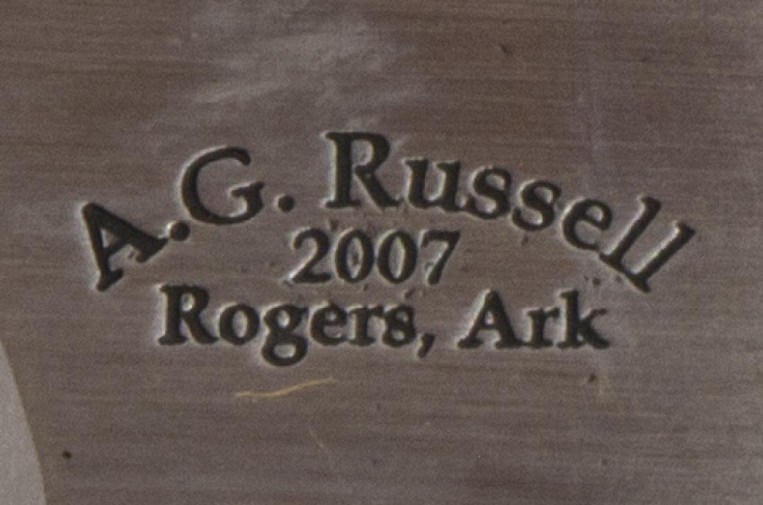 A.G. RUSSELL, ROGERS, AK, 2007 CUSTOM POCKET KNIFE - 3