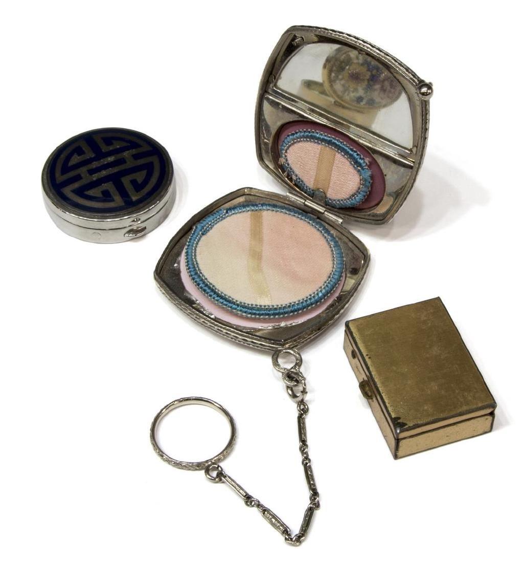 (8) ANTIQUE BEADED HANDBAG & MINIATURE TABLE BOXES - 2