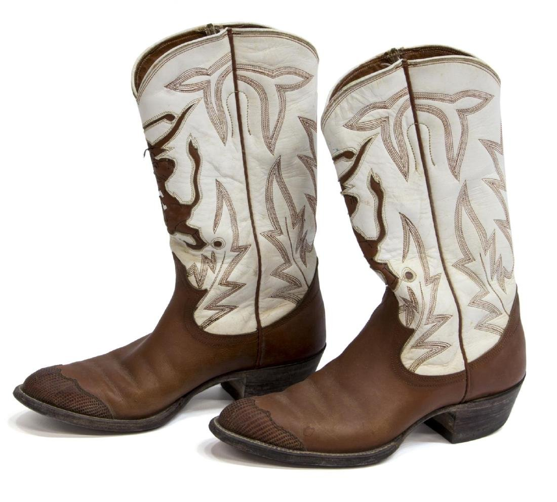 WOMEN'S UNIVERSITY OF TEXAS LEATHER COWBOY BOOTS