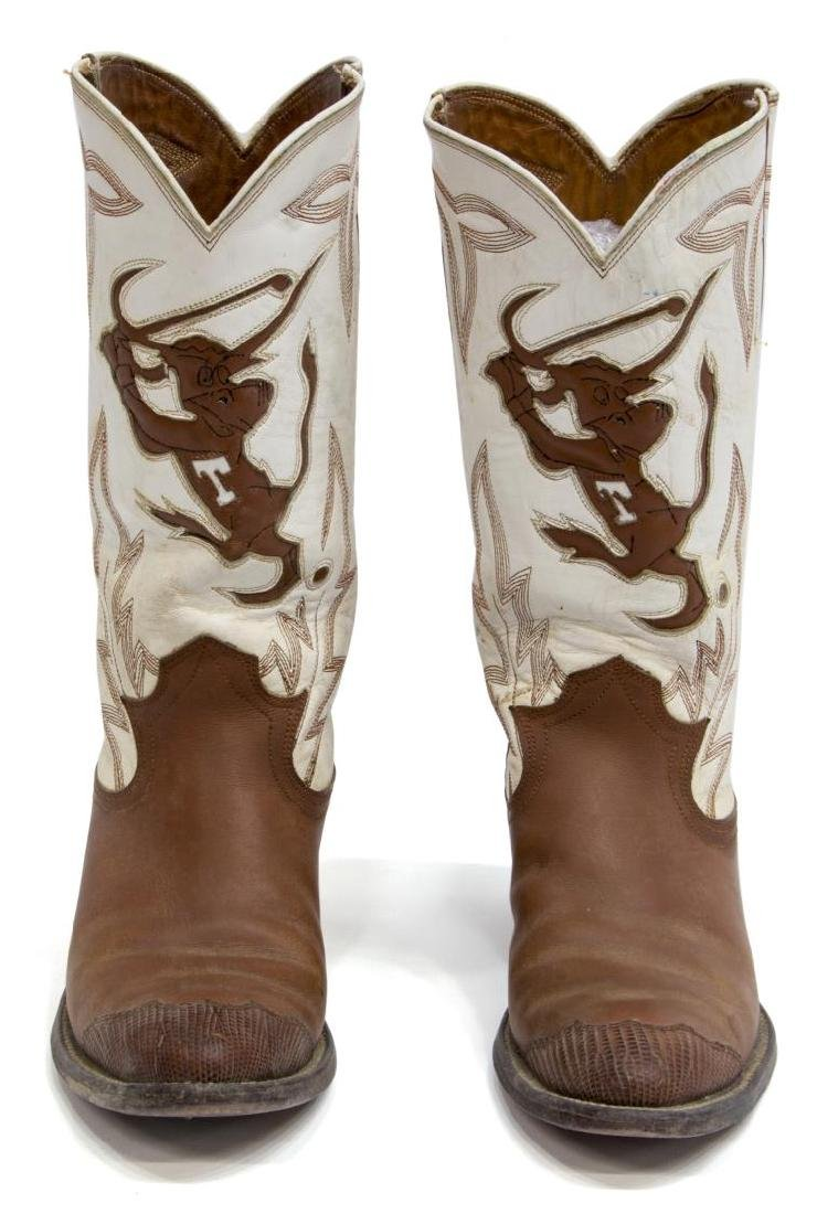 WOMEN'S UNIVERSITY OF TEXAS LEATHER COWBOY BOOTS - 2