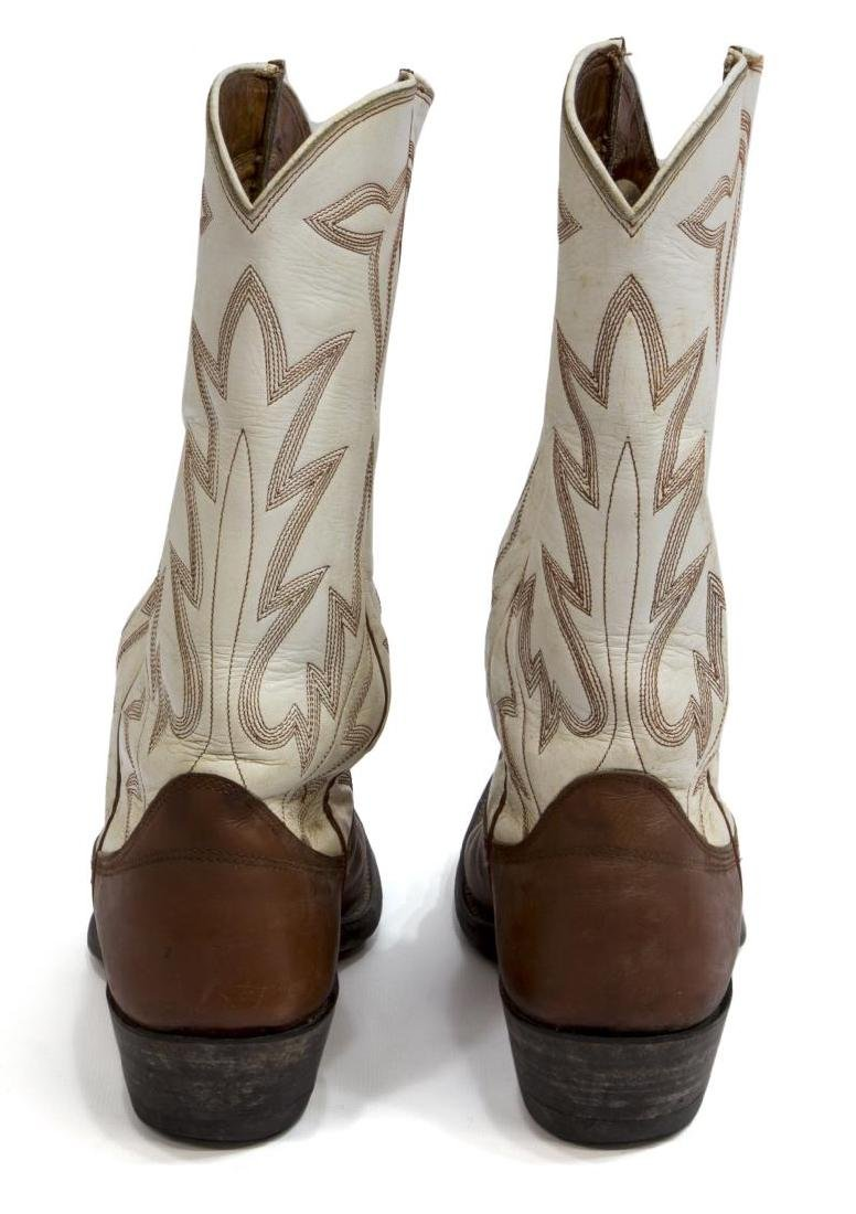 WOMEN'S UNIVERSITY OF TEXAS LEATHER COWBOY BOOTS - 4