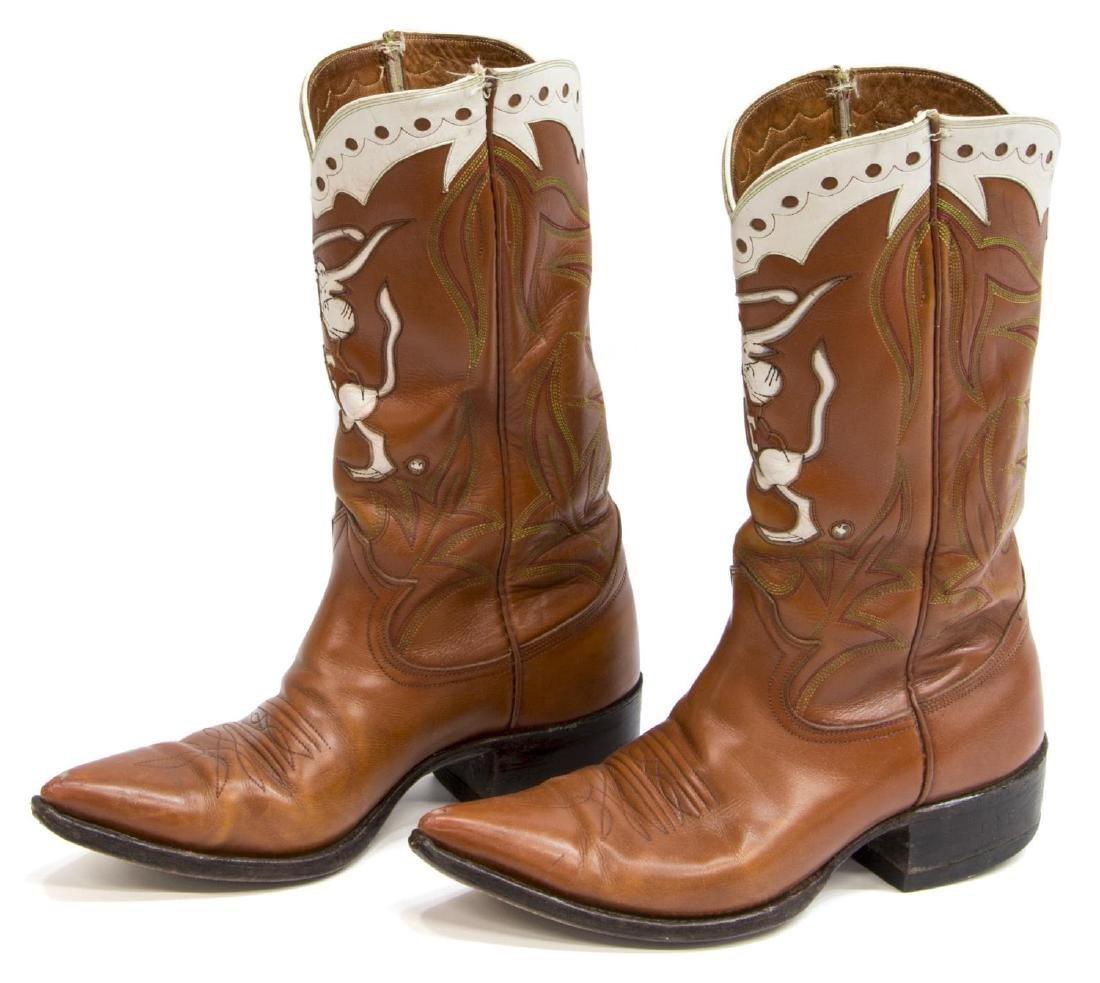 MEN'S UNIVERSITY OF TEXAS LEATHER COWBOY BOOTS