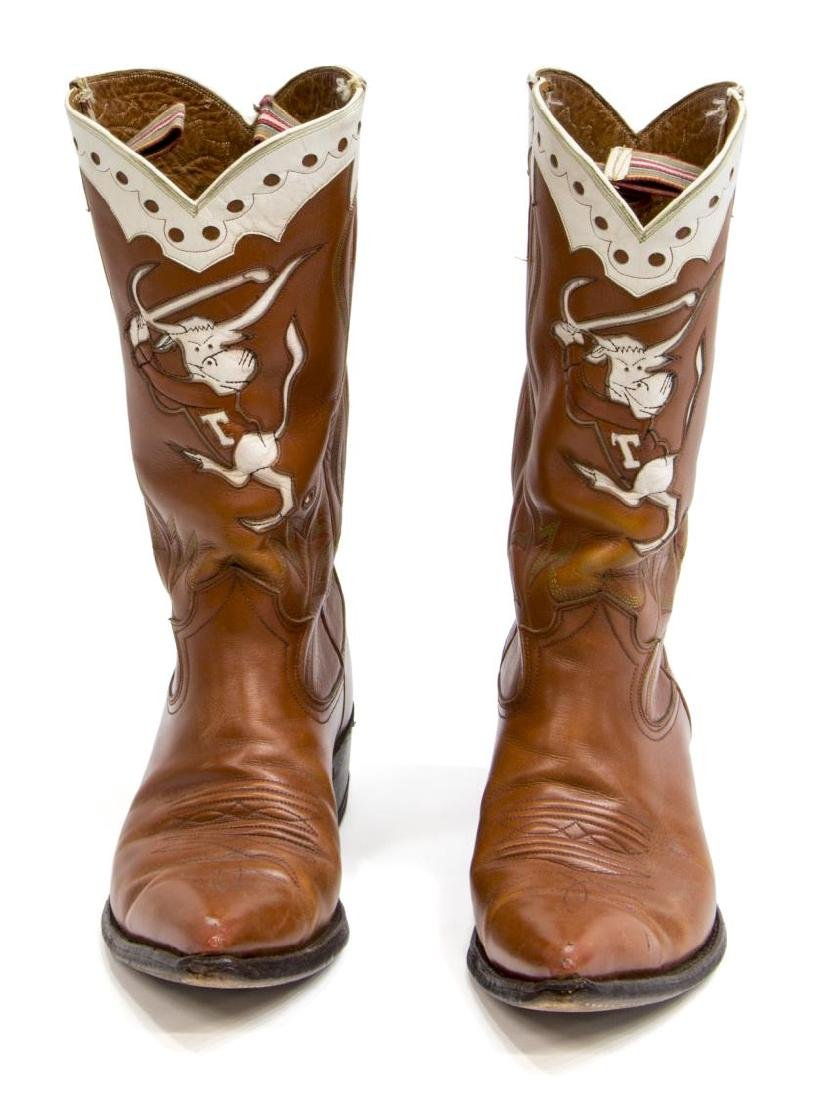 MEN'S UNIVERSITY OF TEXAS LEATHER COWBOY BOOTS - 2