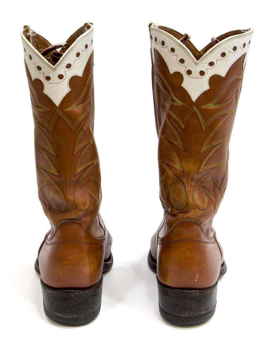 MEN'S UNIVERSITY OF TEXAS LEATHER COWBOY BOOTS - 4