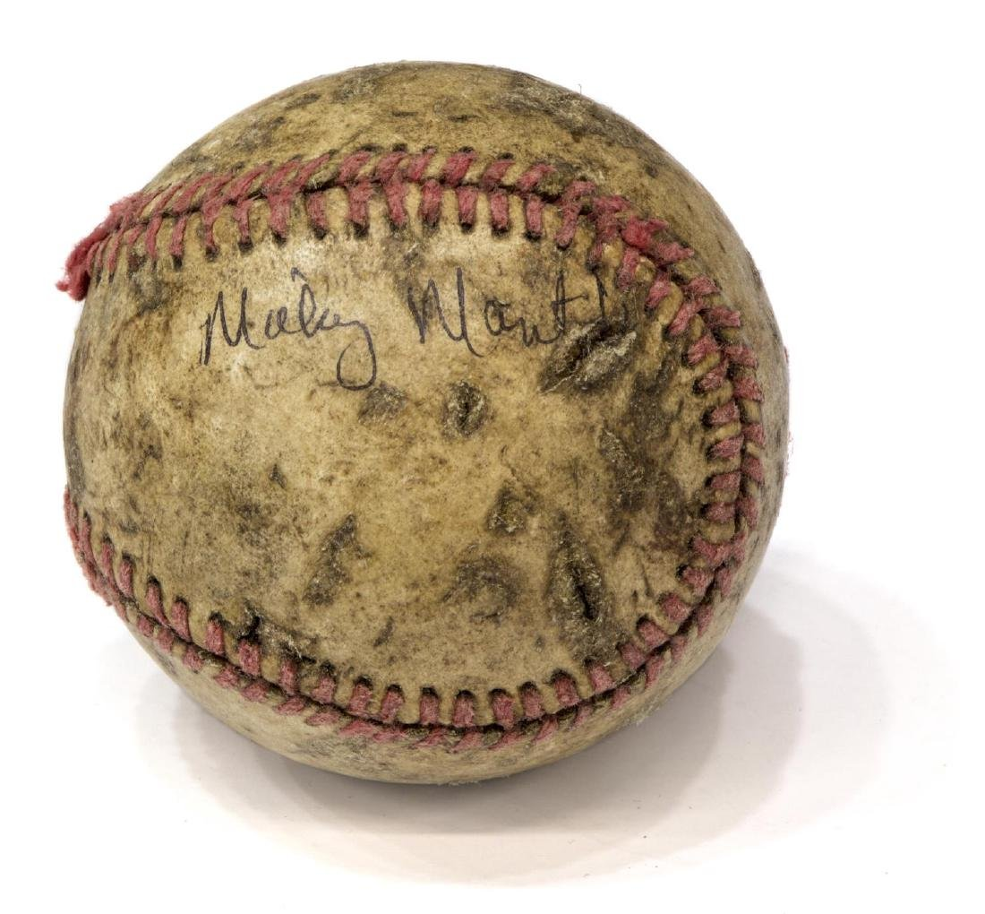 AUTOGRAPHED BASEBALL, JOE DIMAGGIO, MICKEY MANTLE - 2