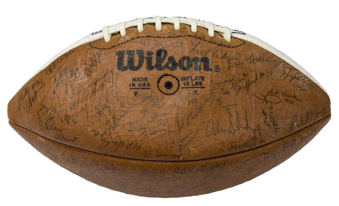 TEXAS LONGHORN AUTOGAPHED BALL, AKERS, TEAM