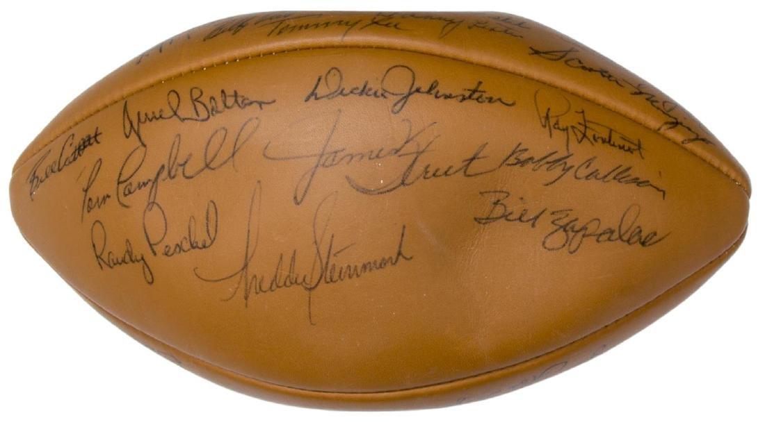 TEXAS LONGHORNS SIGNED 1969 CHAMPS BALL, ROYAL - 3