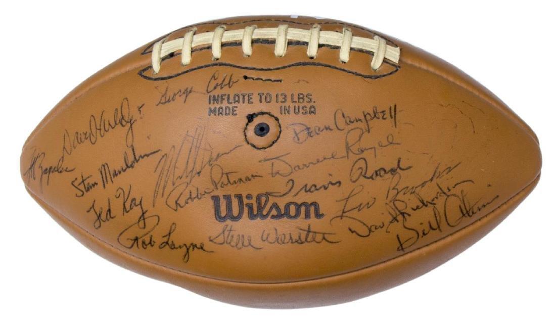 TEXAS LONGHORNS SIGNED 1969 CHAMPS BALL, ROYAL - 4